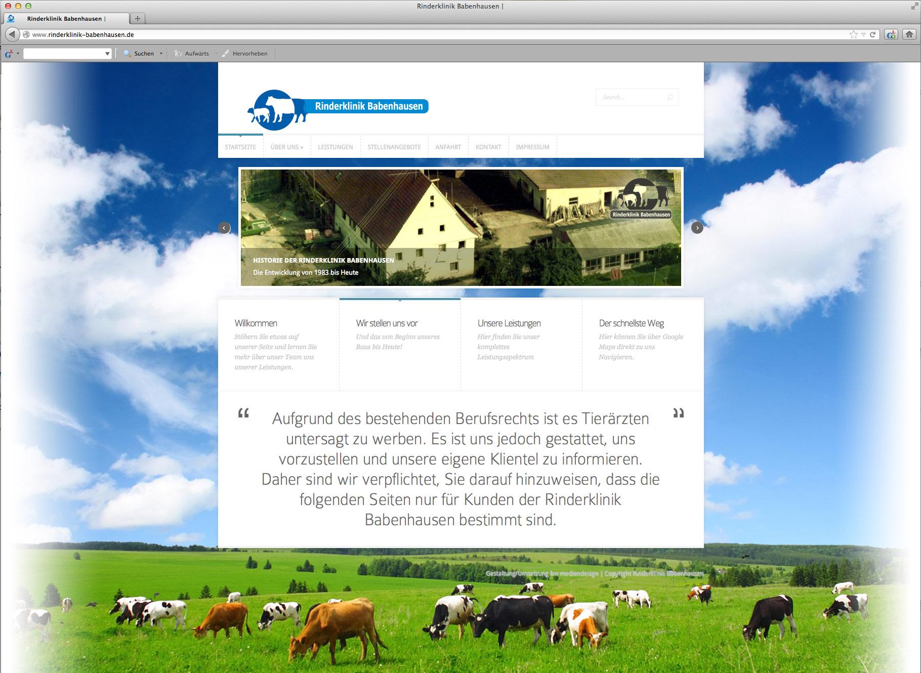 Rinderklinik Babenhausen – Webseite