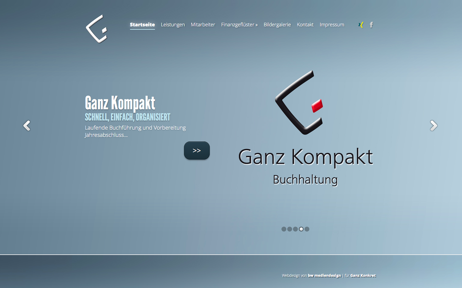 Ganz Konkret – Webseite