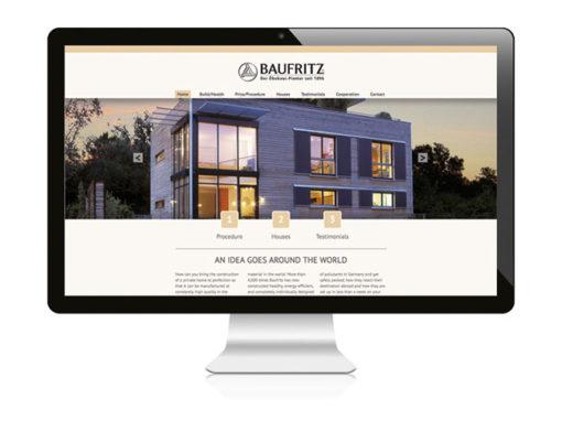 Baufritz international – Neue Webseite