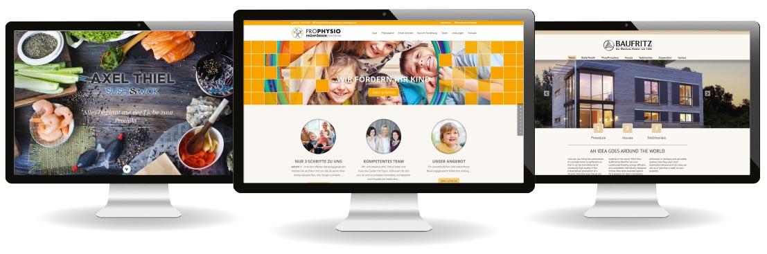 Programmierung von CMS Systemen im WordPress als Firmenwebseiten, Bediendisplays oder Shopsystemen