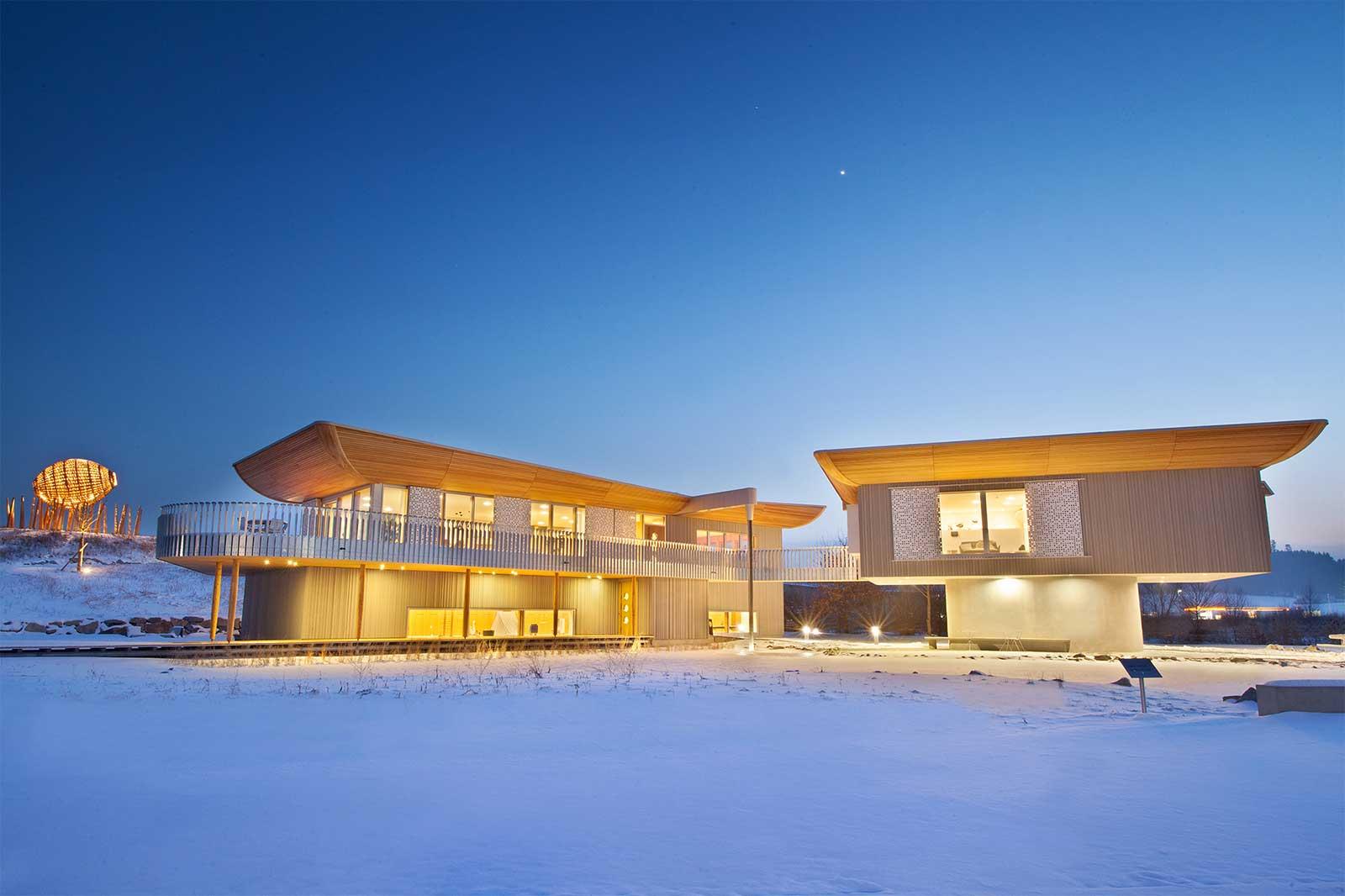 Baufritz Haussicht - ökologisch wertvolles Designer Haus