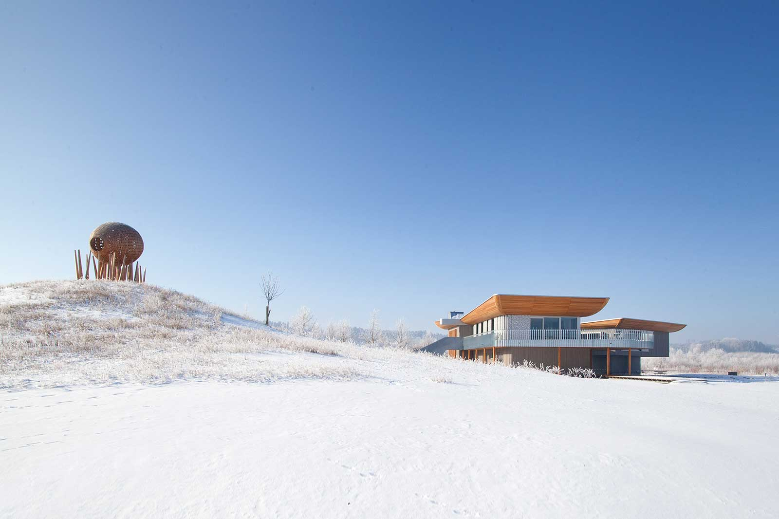 Lanschaft Architektur Foto Holzbau