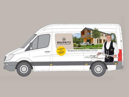 Baufritz – Neugestaltung der Servicefahrzeuge